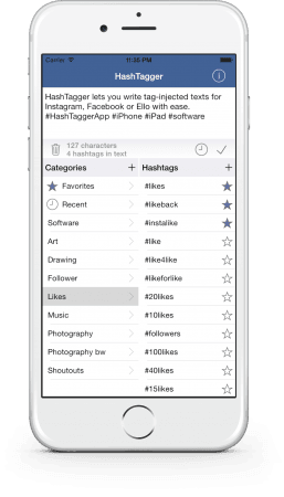 HashTagger v1.0 on iPhone 6